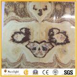 オニックスの平板、背景壁デザイン自然な石のための本マッチのオニックス