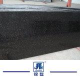 台所及び浴室のカウンタートップの床タイルまたはステップのための普及した磨かれた黒いギャラクシー花こう岩