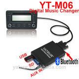 Carregador de CD digital para a Toyota pequeno bujão 6+6 (adaptador Bluetooth USB SD AUX interface) com carregador de CD
