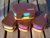 Casella di pranzo di plastica del contenitore di alimento della casella di Bento con le bacchette 20038