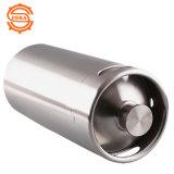 2 litros barril inoxidável da cerveja do Brew da fabricação de cerveja do ofício da cantina do rosnador mini