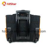 Sacchetto resistente del carrello della valigia attrezzi dell'elettricista con le doppie rotelle e barra di tensionamento