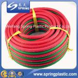 Boyau de jardin tressé de PVC de fibre flexible