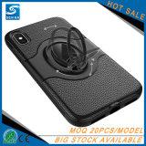 Het Geval van de Telefoon van de Cel van het leer met de Houder van de Ring voor iPhone 8 plus