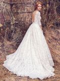 Amelie Rocky 2018 com a Luva Lace uma linha vestido de casamento