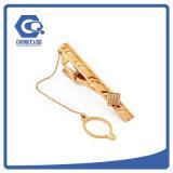 Kundenspezifischer Andenken-Goldketten-Querbinder-Klipp für Männer