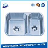 Liga personalizada da precisão que carimba o dissipador pequeno do aço inoxidável da bacia dobro do metal