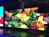Exhibición de LED de interior de aluminio fundida a troquel peso ligero de alta resolución del alquiler P3.91