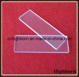 Corrediças transparentes do microscópio do vidro de quartzo do laboratório do espaço livre da pureza elevada