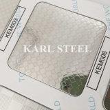 Folha gravada cor da prata do aço 430 inoxidável