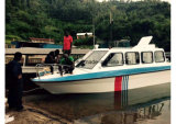 Aqualand 25ft 7,6m de la cabina de fibra de vidrio Ferry/Water Taxi Acuático (760)
