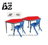 結合された/移動式机および椅子(BZ-0013)