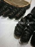 Cheveux humains avec de jolies Funmi des boucles de fermeture