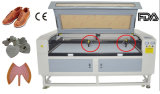 Starke Köpfe der Qualitätszwei überziehen Laser-Ausschnitt-Maschine 1600*1000mm mit Leder