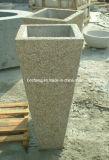 자연적인 Granite Stone Flowers 또는 정원 Home Decoration를 위한 Plant Pot