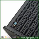 Индикация кольца ювелирных изделий PU оптовой черноты кожаный