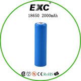 18650 3.7V 2000mAhの円柱リチウムイオン電池