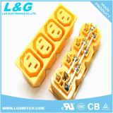 Kontaktbuchse Wechselstrom-Dreiwegeenergien-elektronischer Anschluss der Qualitäts-15A