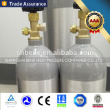 Cilindro de alumínio do CO2 do tamanho de M2/M4/M6/Ml6/M9/MD/5lbs/Me/10lbs/M60/20lbs/M90/mm com válvula e tampão