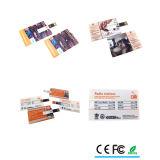 USB feito sob encomenda do cartão de crédito da impressão de cor cheia para o presente relativo à promoção