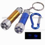De blauwe LEIDENE PromotieToorts Keychains van het Flitslicht met Afgedrukt Embleem (4070)