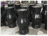 POT di fiore nero del Headstone del vaso del granito