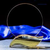 De nieuwe Trofee van het Kristal van de Plaque van het Kristal van de Stijl Optische Toekenning Gekleurde met Gele Basis