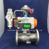 Actuador Pneuamtic doble válvula de bola flotante con interruptor de límite y la electroválvula