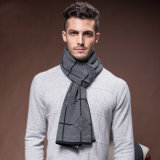 Sciarpa tessuta acrilica di nylon di inverno del poliestere delle lane di modo degli uomini (YKY4620)