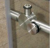 Aço inoxidável chuveiro de correr sem caixilho Gabinete com rolos grandes