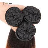 Venda por grosso de cabelo humano Omber Reta Pre-Coloed #1B/30 Remy Brasileira dois pacotes de extensão de cabelo cor de tom (TFH18)