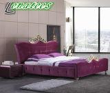 Bed A04贅沢なデザインファブリック王の寝室組