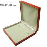 Gran Plaza Leatther regalo Set de joyas de madera MDF cajas de embalaje