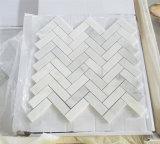 /Poli perfectionné Carrara/blanc pur/Royal de marbre blanc/noir onyx à chevrons/panier Sexangle/Six pans/Mosaic pour salle de bains/mur