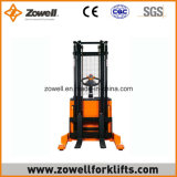 Zowell elettrico 1.5 tonnellate cavalca l'impilatore con altezza di sollevamento 5.5m massima nuova