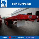 Titan-Fahrzeug - Hochleistungs3 Wellen-Flachbett-halb Schlussteile für Verkauf mit 12 Behälter-Verschlüssen