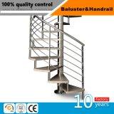 Corrimão da escada pilar com tubo de aço inoxidável para áreas interiores