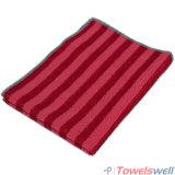 Красное полотенце тарелки кухни Microfiber нашивки