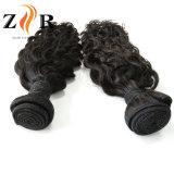 Paquets ondulés de cheveux humains de cheveu péruvien de Vierge