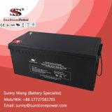 Bateria de armazenamento profunda da potência da bateria 12V 220ah do gel do painel solar do ciclo