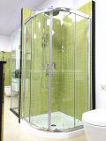 Austalian Certificado de vidro temperado Arc-Shape Shower Room com bandeja (H002)
