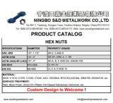 DIN934 noix Hex Cl8 galvanisées