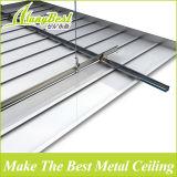 Высокое качество потолка цвет древесины Алюминий Линейный крыши