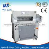 Serviço Pesado (WD-520R) 80mm Program-Control hidráulico da máquina de corte de papel