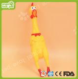 熱い販売の乳液のSqueakerの鶏の形ペットおもちゃ(HNP007)