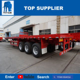 Titan 20FT/40FT 3 Wellen-Behälter-Flachbettsattelschlepper für Verkauf