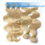 Blondes europäisches Menschenhaar der Karosserien-Wellen-613#