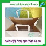 Sacos de transporte de papel Kraft personalizados com alças planas
