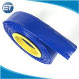 Layflat PVC flexible de suministro de agua de riego de la bomba de piscina de descarga Tubos de Fuego azul