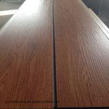 Dunkler Brown-trockener rückseitiger Jungfrau-Vinylplanke Belüftung-Fußboden